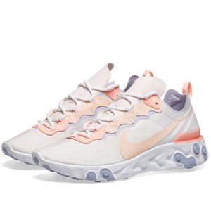 NEW Nike React Element 55 Pale Pink Washed Coral